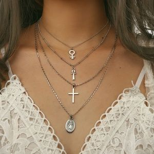 Cross Buddha statue Charms Pendant Necklace